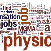 mgma word cloud - average physician compensation, physician job market, etc