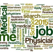 Word cloud about 2015 resident physician job search
