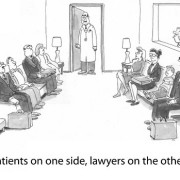 Patients on one side, lawyers on the other