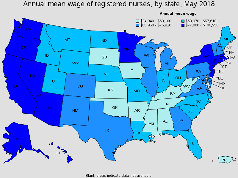 What Nurses Make in the Fastest Growing States