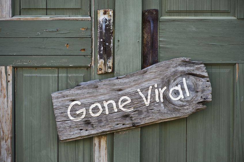 """Gone Viral"" sign illustrates the power of social media and employer branding in healthcare recruitment"