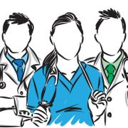 Artistic illustration of a healthcare team