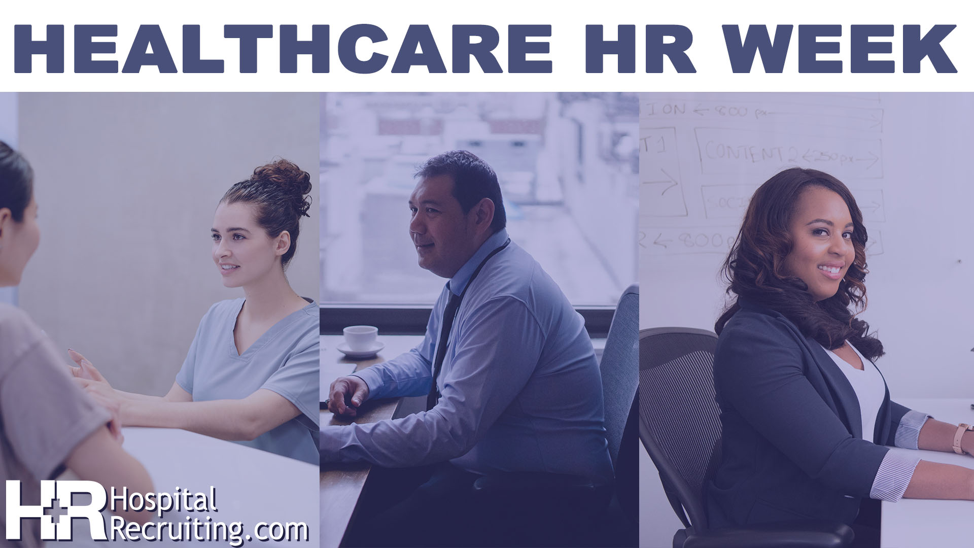 healthcare HR professionals at a desk